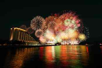 【残り2組】2020みなと神戸海上花火大会観覧付 <br>神戸みなと温泉「蓮」スイートルーム宿泊ウェディングプラン