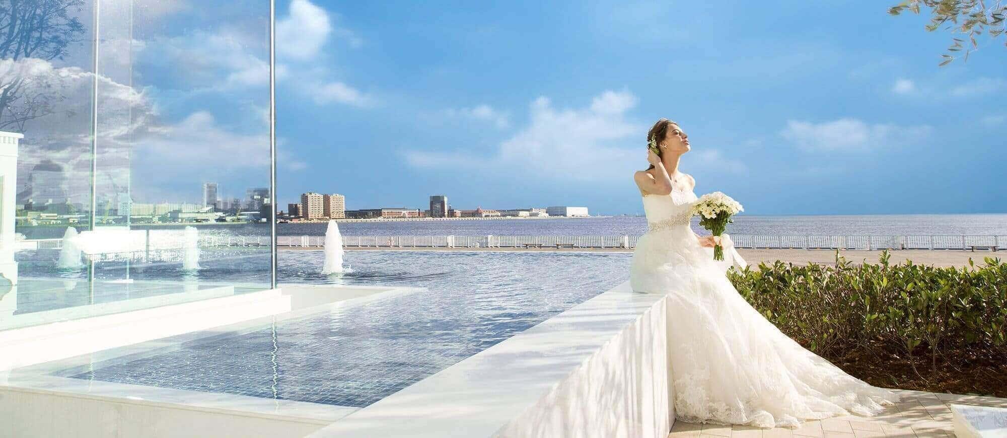 花嫁_結婚式場海側
