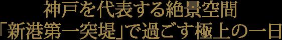 神戸を代表する絶景空間「新港第一突堤」で過ごす極上の一日